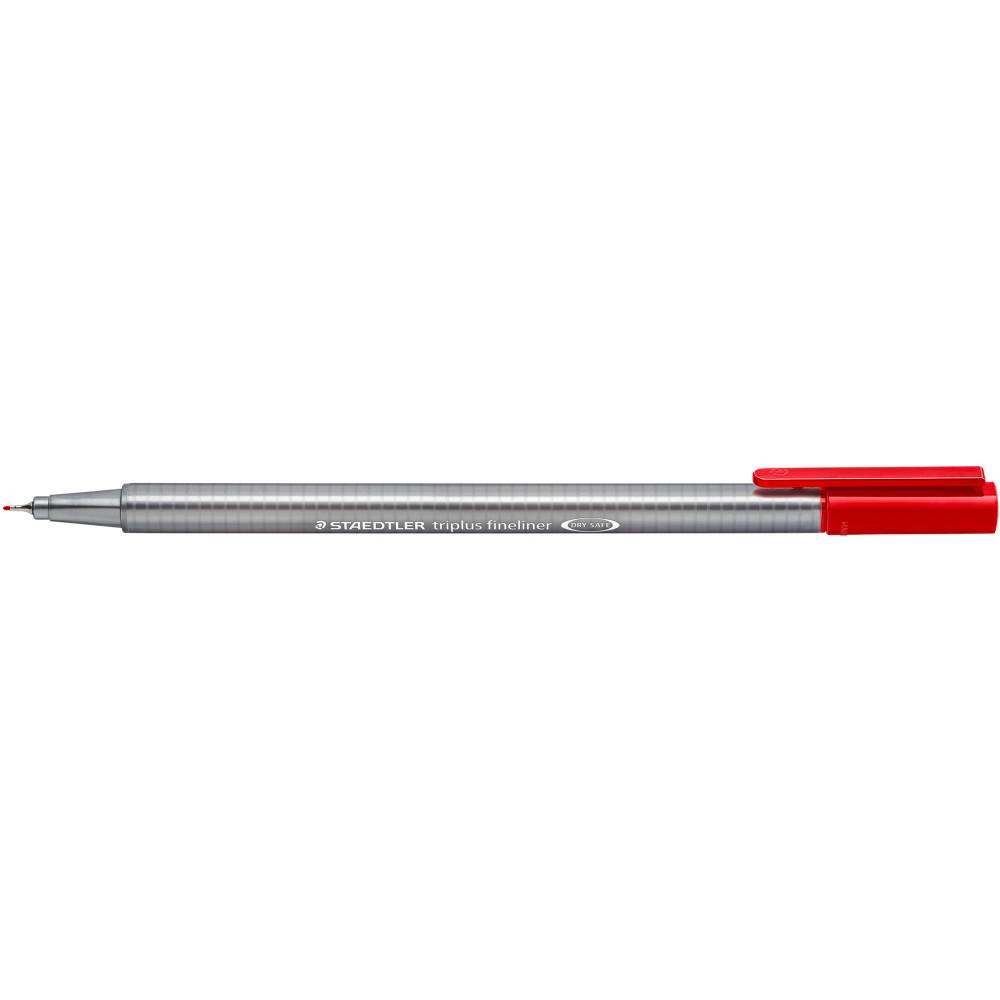 STAEDTLER TRIPLUS 334 Fineliner Red Pack of 10
