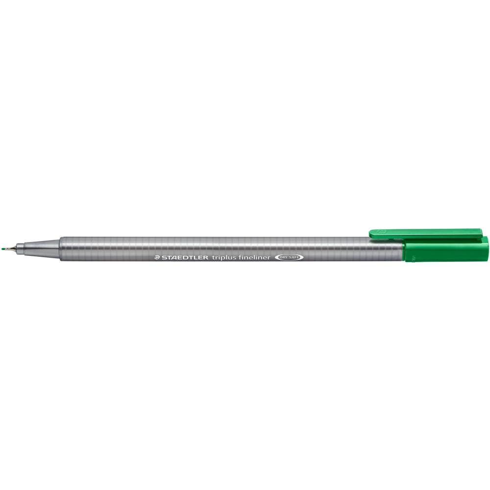 STAEDTLER TRIPLUS 334 Fineliner Green Pack of 10