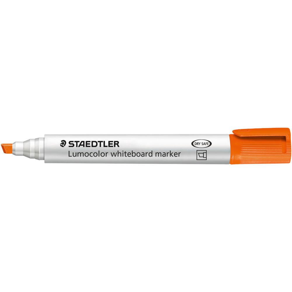 STAEDTLER LUMOCOLOR CHISEL TIP Whiteboard Marker Orange Pack of 10