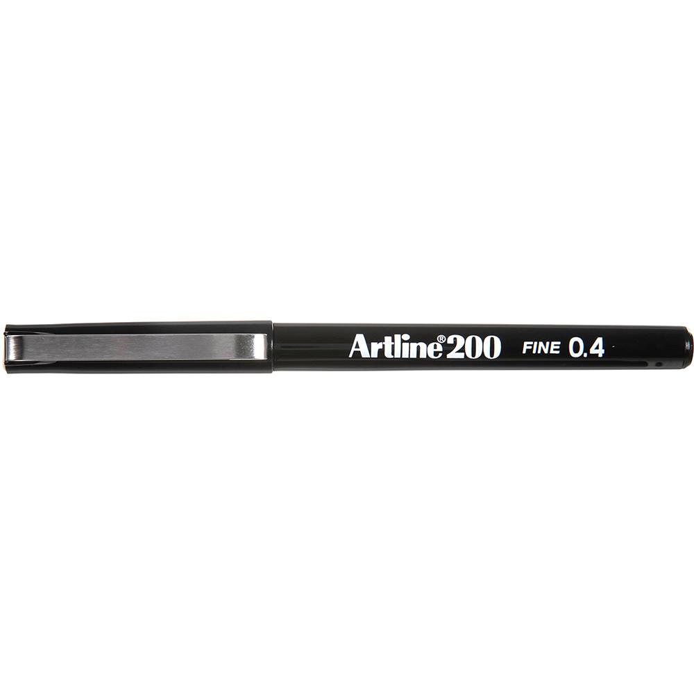 ARTLINE 200 FINELINER PENS 0.4mm Black