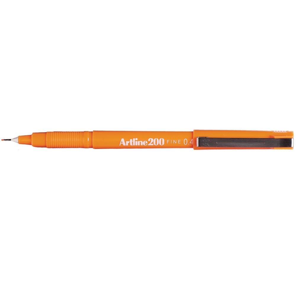 ARTLINE 200 FINELINER PENS 0.4mm Orange