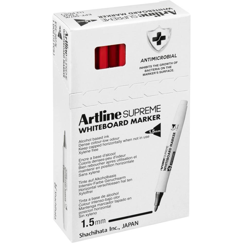 ARTLINE SUPREME WHITEBOARD MKR Marker Red 1.5mm Nib