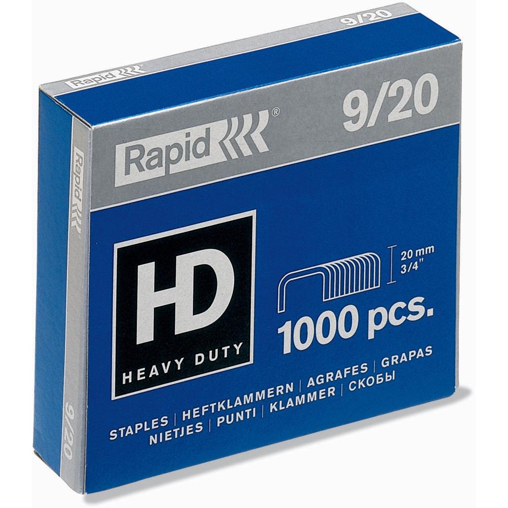 RAPID 9/20 STAPLES 20mm Heavy Duty BX1000