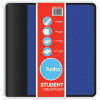 TUDOR STUDENT ORGANISER Zipper,2 Ring,100Leaf Pad Blue