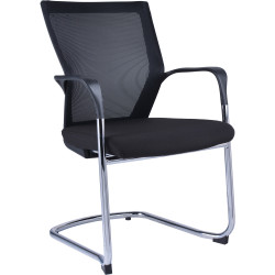 RAPID VISITOR CHAIR MESH BACK Black Chrome Cantilever Underframe