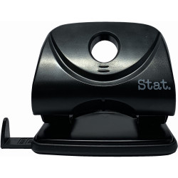 STAT HOLE PUNCH 2 HOLES BLACK Large 30 Sheets