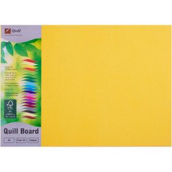 Quill Board 210GSM A3 Lemon Pack 25