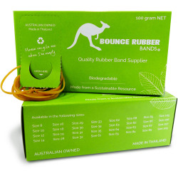 BOUNCE RUBBER BANDS® SIZE 16  100GM BOX