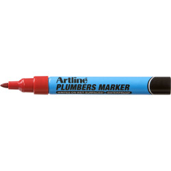 ARTLINE PLUMBERS PERMANENT Marker Red Pack of 12