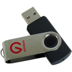 SHINTARO 16GB ROTATING POCKET DISK USB2.0 Black