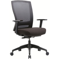 BURO MENTOR CHAIR WITH ARMS BLACK