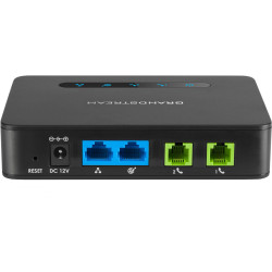 Grandstream HT812 Telephone Adapter Two Port VoIP Gateway 2 FXS with Gigabit NAT router