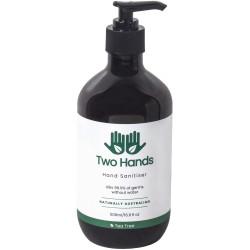 Two Hands Hand Sanitiser 500ml Gel Pump 60% Alcohol