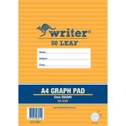Writer Graph Pad A4 5mm 50 Sheets