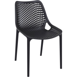 Air Indoor Outdoor Cafe Chair Extra Strong UV Stabilised Polypropylene Black