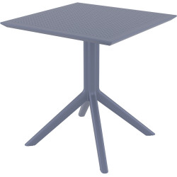 Sky Indoor Outdoor Cafe Table UV Stabilised Polypropylene 740Hx700Wx700Dmm Anthracite
