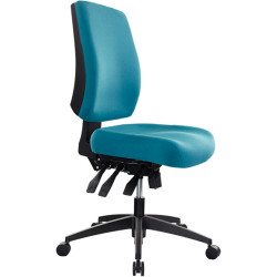 Buro Tidal Office Chair Mid Back No Arms Seat Slide Teal Fabric Seat and Back