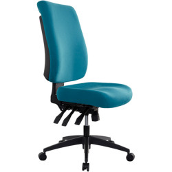 Buro Tidal Office Chair High Back No Arms Seat Slide Teal Fabric Seat and Back