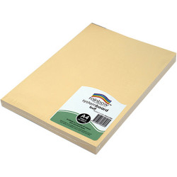 RAINBOW SYSTEM BOARD 150GSM A4 Buff  Pack of 100