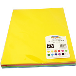 Rainbow Spectrum Board 220GSM A3 Assorted Pack of 100