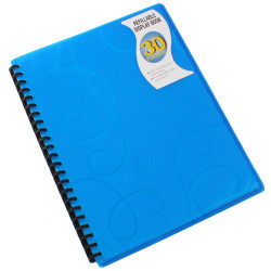 Beautone Display Book Refillable PP A4 Jewel Blue 30 Pockets