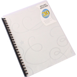 Beautone Display Book Refillable PP A4 Jewel Clear 30 Pockets