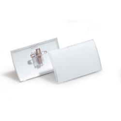 DURABLE CLICK FOLD NAME BADGE With Combi Clip Box 25