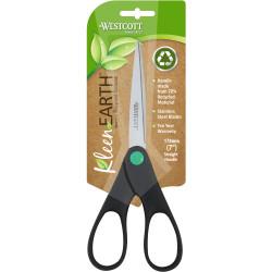 Westcott KleenEarth Scissors Straight Handle 178mm Black