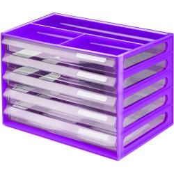 Italplast A4 Document Cabinet Grape