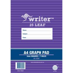 Writer Graph Pad A4 2mm 25 Sheets