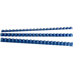 GBC PLASTIC BINDING COMB 6mm 21 Ring 25 Sheets Capacity Blue Pack of 100