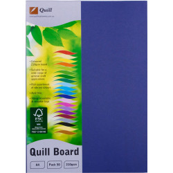 Quill Board 210GSM A4 Royal Blue Pack 50
