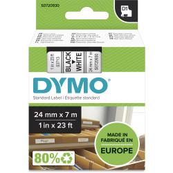 DYMO D1 LABEL CASSETTE TAPE 24mm x 7M Black on White