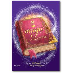 OLYMPIC MAGIC STORY BOOK 1/3Plain,2/3 12Mm Ruled,48Pg