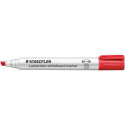 STAEDTLER LUMOCOLOR CHISEL TIP Whiteboard Marker Red Pack of 10