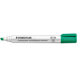 STAEDTLER LUMOCOLOR CHISEL TIP Whiteboard Marker Green Pack of 10
