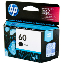 HP #60 INKJET CARTRIDGE CC640WA, Black