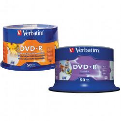 VERBATIM RECORDABLE DVD DVD-R 4.7GB Wht Printable 50Pk