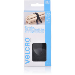 VELCRO® Brand ADJUSTABLE WRAP 19mmx3m Black