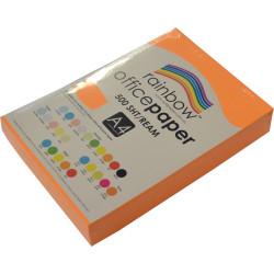 RAINBOW 80GSM OFFICE PAPER A4 Fluoro Orange Ream of 500