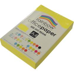 RAINBOW 80GSM OFFICE PAPER A4 Fluoro Yellow Ream 500