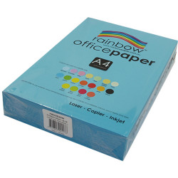RAINBOW OFFICE PAPER A4 80GSM Blue Ream of 500