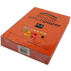 RAINBOW OFFICE PAPER A4 80GSM Orange Ream of 500