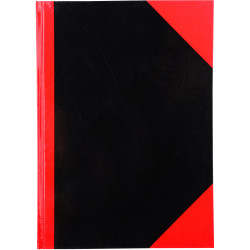 RED AND BLACK NOTEBOOK Gloss Cover A4 100 Leaf Cumberland