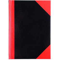 RED AND BLACK NOTEBOOK Gloss Cover A5 200 Leaf Cumberland