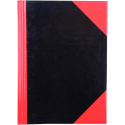 RED AND BLACK NOTEBOOK Gloss Cover A6 100 Leaf Cumberland