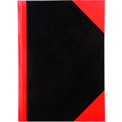 RED AND BLACK NOTEBOOK Gloss Cover A7 100 Leaf Cumberland
