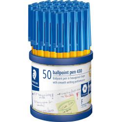 STAEDTLER STICK 430 BALL PEN Medium Blue Cup50
