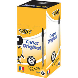 BIC CRISTAL BALLPOINT PEN Black Box of 50