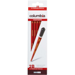 COLUMBIA COPPERPLATE PENCIL Hexagon 2B Box of  20